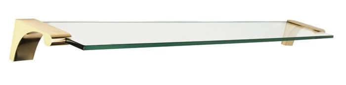 "Alno A6850-24 24"" Glass Shelf With Brackets"