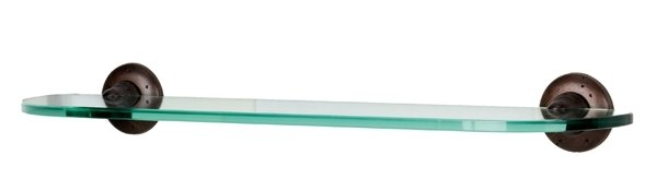 "Alno A8250-18 18"" Glass Shelf With Brackets"